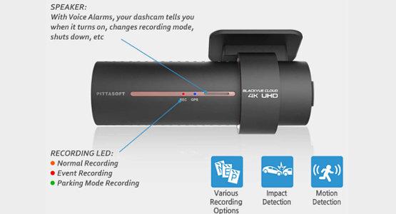 BlackVue Dashcam DR900S-1CH Aufprall und Bewegungserkennung